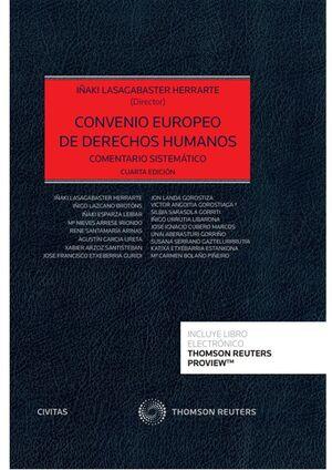 CONVENIO EUROPEO DE DERECHOS HUMANOS (PAPEL + E-BOOK)