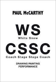 PAUL MCCARTTHY. WHITE SNOW COACH STAGE STAGE COACH. DRAWING PAINTING PERFORMANCE