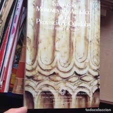 INVENTARIO MONUMENTAL Y ARTÍSTICO DE LA PROVINCIA DE CÓRDOBA.1904