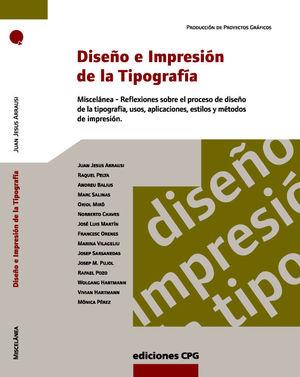 DISEÑO E IMPRESIÓN DE LA TIPOGRAFÍA