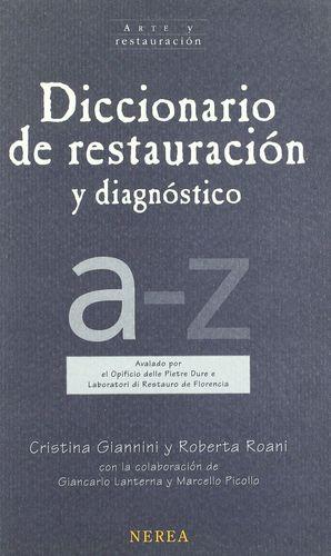 DICCIONARIO DE RESTAURACIÓN Y DIAGNÓSTICO