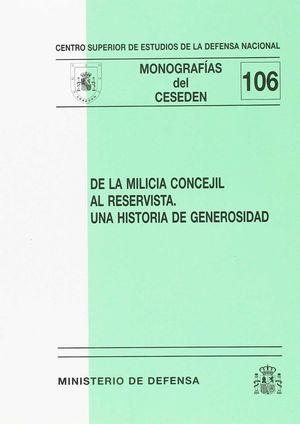 DE LA MILICIA CONCEJIL AL RESERVISTA